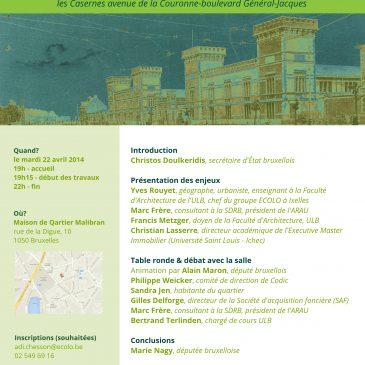 Encourager la création d'une cité universitaire internationale sur le site des casernes d'Ixelles et d'Etterbeek #votenagy70